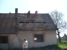 Demolice domu na Novém Hrádku (rok 2012)